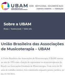 Link Ubam Institucional - Musicoterapia SC - ACAMT